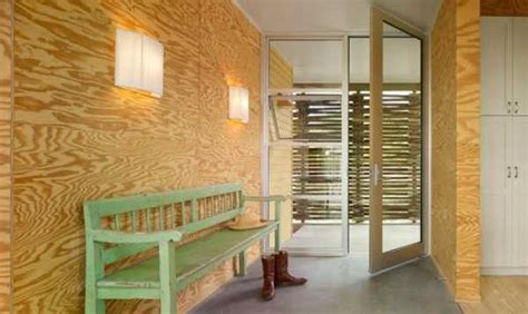 comfortable modern house design brings plywood walls to light