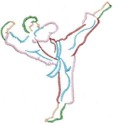 embroidery design karate machine embroidery designs embroidery design karate kick