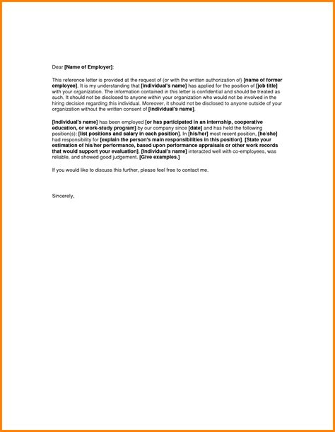 Recommendation Letter For Work 7 reference letter ledger paper