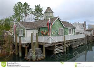 Traditional Colonial House Plans New England Fishing Village Stock Image Image 1824861