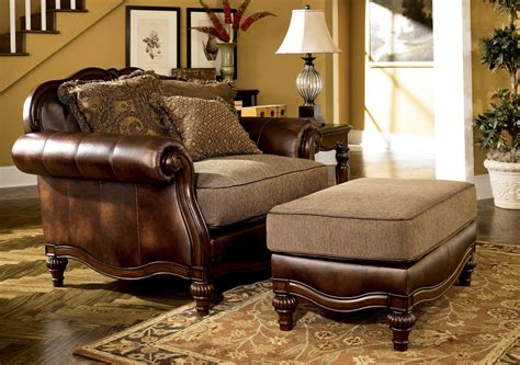 ashley claremore antique living room set