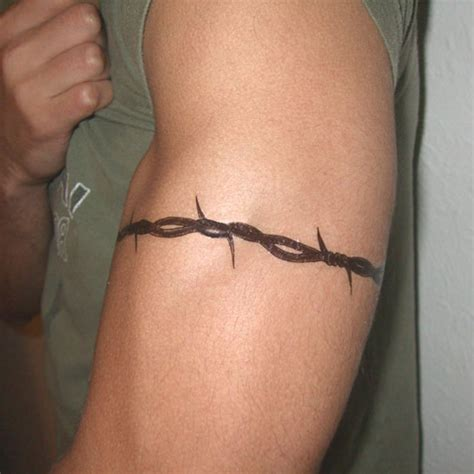 barbwire tattoos wrist stencil barbed wire pictures to pin on