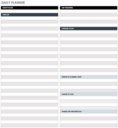 28 Free Time Management Worksheets Smartsheet Wip Schedule Template