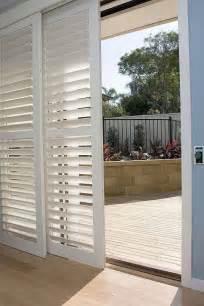 shutters for covering sliding glass doors i like this so