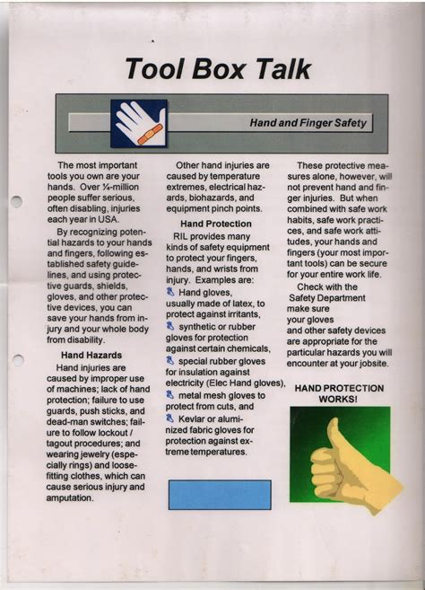 safety toolbox template simple safety toolbox talk material 2nd part