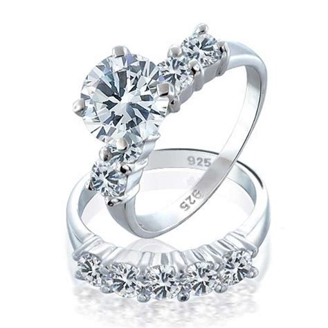 bling jewelry 925 sterling silver cz engagement