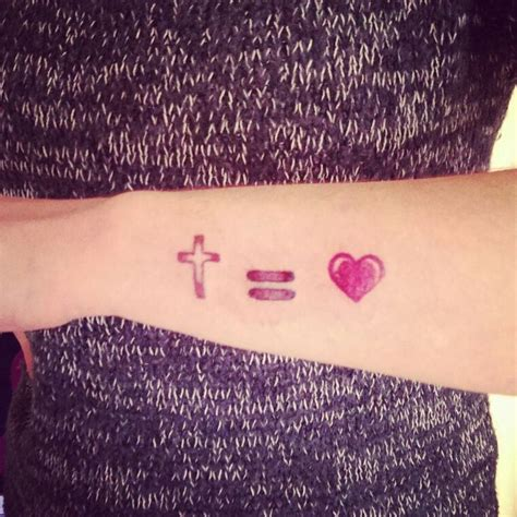tattoo cross equals love my tattoo cross equals love jesusfreak teamjesus