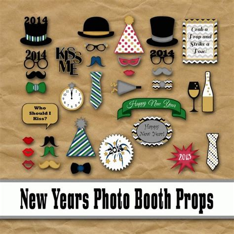 printable photo booth props nye 2017 new years eve photo booth props and decorations