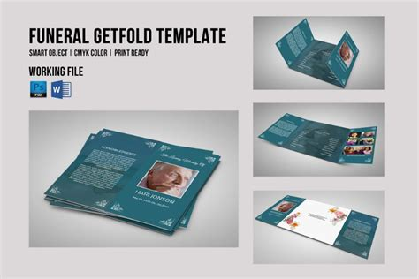 gate fold brochure template indesign 20 funeral brochure template word indesign and psd
