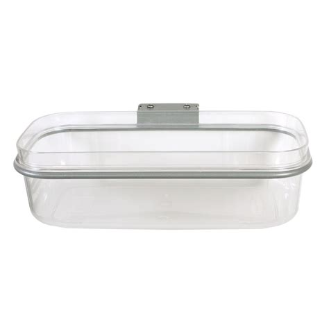rubbermaid front of shelf pantry bin 1951589 the home depot
