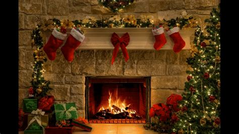 christmas fireplace burning gifs search find  share gfycat gifs