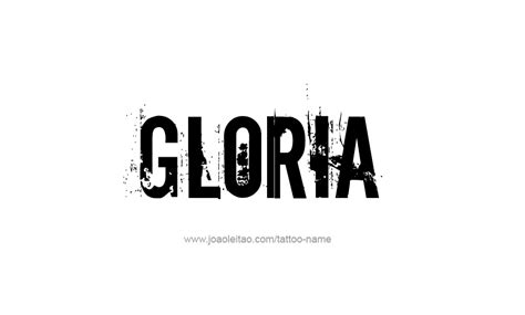 tattoo name gloria gloria name tattoo designs