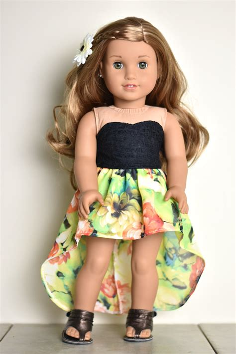 high doll clothes high low skirt 18 inch doll clothes american made doll clothes