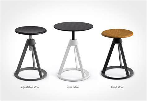 piton adjustable height stool lumberjac
