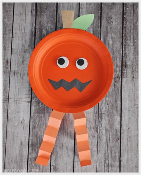 O Lantern Paper Craft - paper plate characters barone