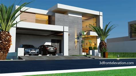 3d front elevation beautiful contemporary house design 2016