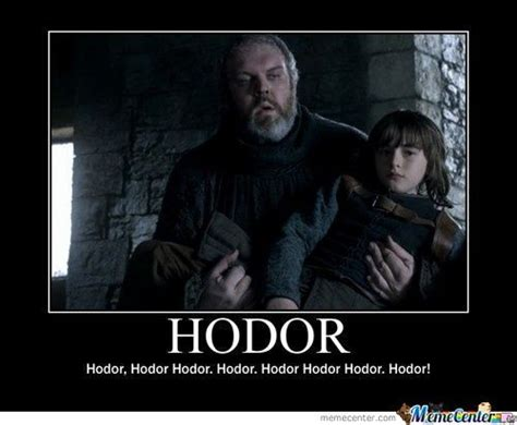 Game Of Thrones Hodor Meme - hodor by mustapan meme center