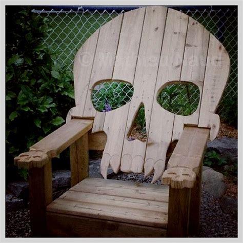 Skull Adirondack Chair Plans by Skull Deck Chair Boneyard Gardens Awesome