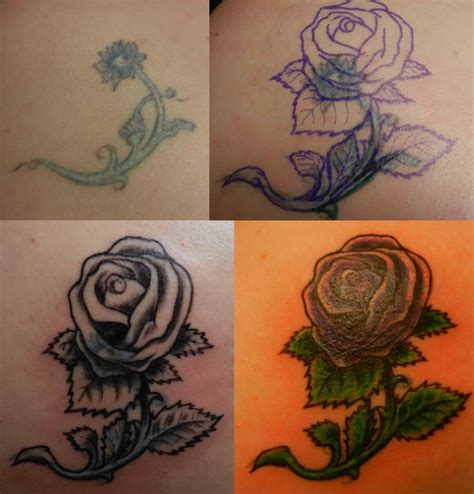 how to cover up a rose tattoo school girly www pixshark images