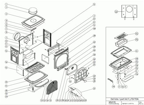 Parts Of A Wood Burning Fireplace by Exploded Diagram For Jotul F3td Woodburning Stove