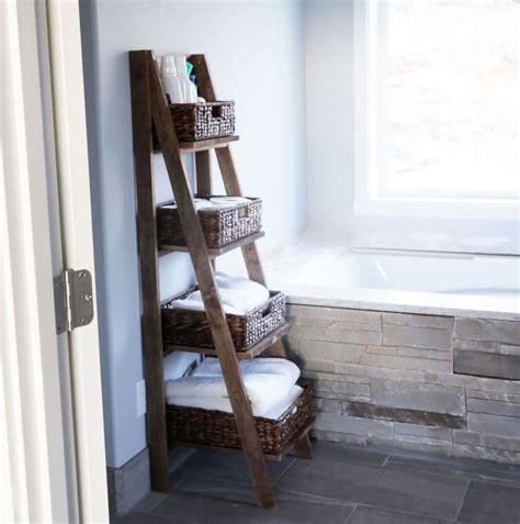 bathroom storage ladder knockoffdecorcom