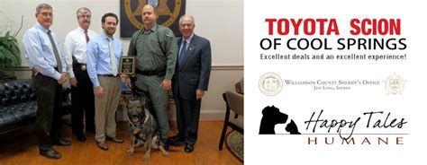 Toyota Scion Of Cool Springs Williamson County Sheriff S Officer Honored With Deputy Of