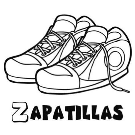 imagenes infantiles de zapatos dibujo de zapatillas deportivas para colorear