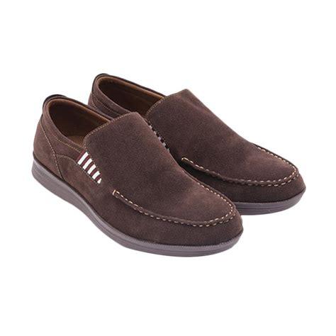 jual dr kevin 13232 suede sepatu kasual pria brown