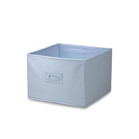 Light Blue Canvas Storage Boxes