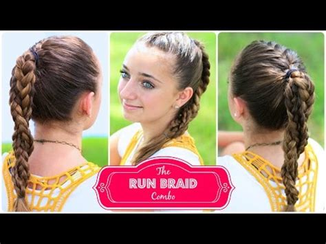 Hair Styles For A Run | the run braid combo hairstyles for sports youtube