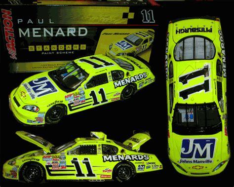 2006 Paul Menard Stock Car 4 Die Cast 1 43 Scale Model Menards Nascar paul menard 2006 manville 1 24 motorsports authentics