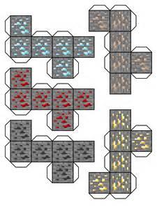 cubos de papel del minecraft planetas olvidados