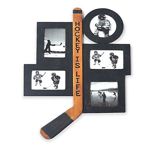 Quot Hockey Is Life Quot 5 Photo Collage Frame Bed Bath Beyond Hockey Bed Frame
