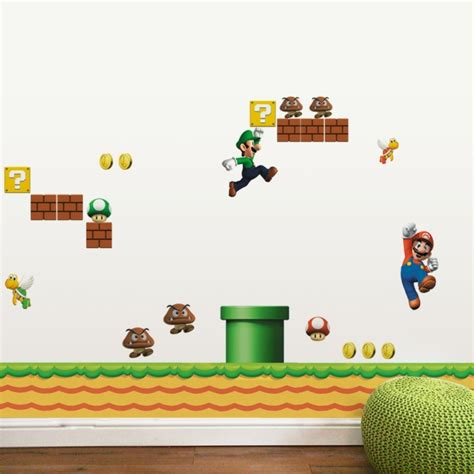 mario bros stickers wall stickers muraux pour d 233 co de chambre enfant en 49 photos