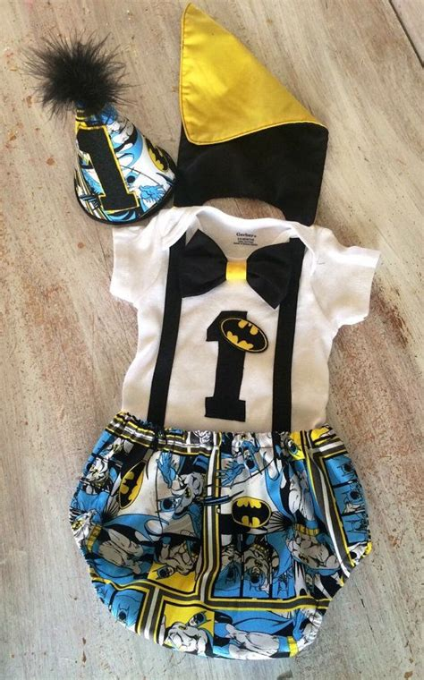 Batman Superheromic Cake Smash Outfit With Cape By