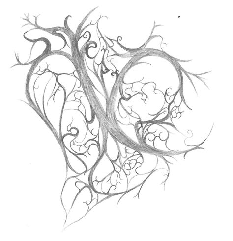 heart with vines tattoo design quot s vine quot by grailas on deviantart
