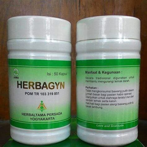 Herbagyn Herbal Alami Atasi Kolesterol Asli Nasa griya herbal nasa