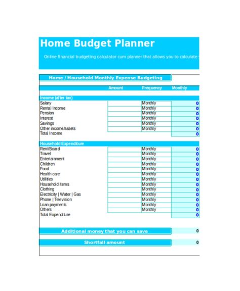 Home Monthly Budget Spreadsheet by Budget Template Uk