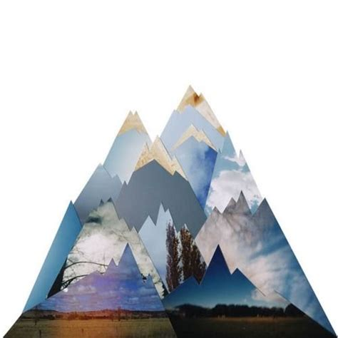 How To Make A Mountain Out Of Paper - cut out paper mountain design typography