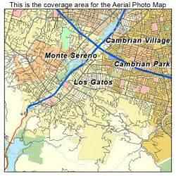 aerial photography map of los gatos ca california