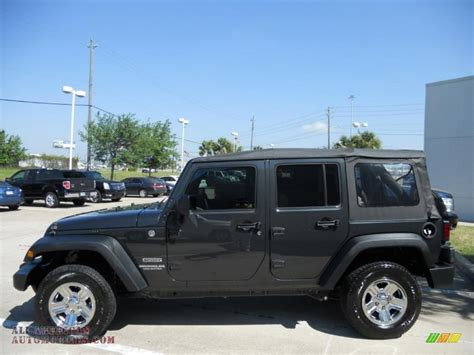 pearl jeep wrangler 2010 jeep wrangler unlimited sport 4x4 in dark charcoal