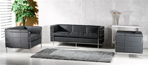 le corbusier sofa set le corbusier style grande sofa loveseat chair set in black