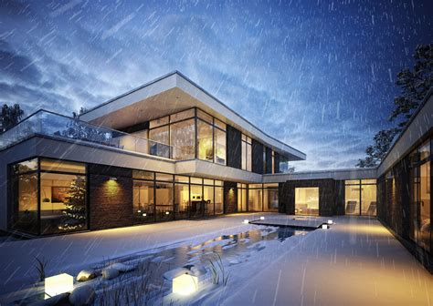 how to winterize a house peter oldorf tomczak house winter ronen bekerman 3d architectural visualization