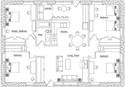 earthbag floor plans blue print earthbag house plans
