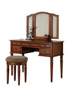 Vanity Sets For Adults Walnut Make Up Vanity Table Sets 200 S Place