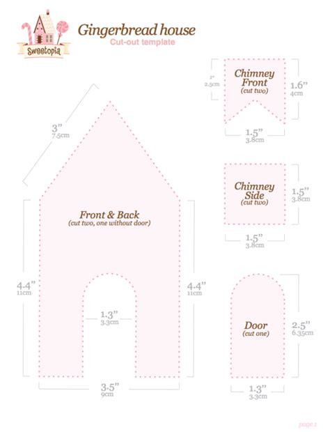 simple gingerbread house template printable christmas gingerbread house ideas sweetopia
