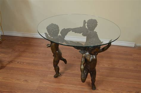 Cherub Table L by Bronze Cherubs Base Cocktail Table At 1stdibs