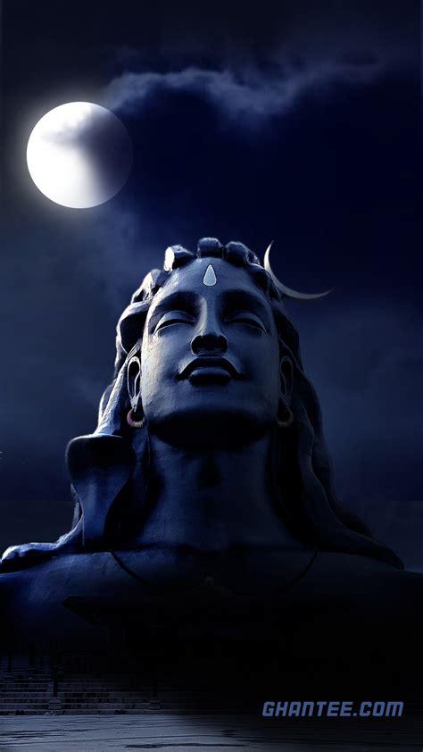 adiyogi lord shiva soothing night wallpaper full hd