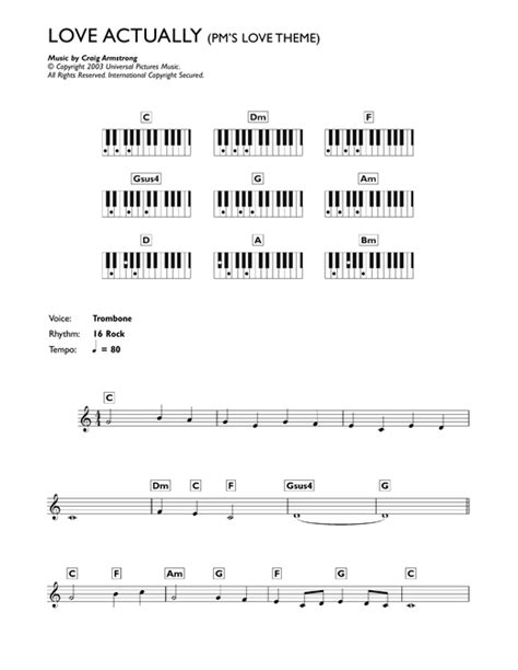 themes in love actually p m s love theme from love actually sheet music by