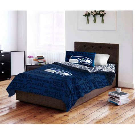 seahawks bed set nfl seattle seahawks bedding set walmart com